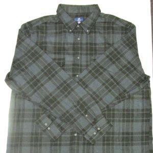 George Men's L/S Cotton Flannel Shirt Size 3XL